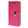MOONCASE чехол для HTC One M8 Flip Leather Wallet Card Slot Bracket Back Cover Hot pink