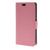 MOONCASE Simple Leather Flip Wallet Card Slot Stand Back чехол для Huawei Ascend Y520 Pink boxwave huawei g6310 bamboo natural panel stand premium bamboo real wood stand for your huawei g6310 small