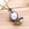 Старинные карманные часы кварцевые Античная мяч футбол Кулон Ожерелье Подарок карманные часы