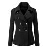 CT&HF Мода зима Женщины нагрудные двубортное шерстяное пальто