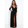 цены на Сплит трикотажные платья сексуальный Глубокий V платья в интернет-магазинах