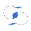 3,5 мужчинами Aux Вспомогательный Выдвижной стерео разъем аудио кабель шнура синий 1 шт 3 5 мм стерео аудио разъем для usb plug a v audio кабель адаптер белый