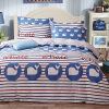 Shengwei Постельные принадлежности Домашний текстиль Хлопок Twill Двуспальная кровать Одеяло Установить 4шт 1,5 м кровать / 1,8 м кровать (одеяло 200 * 230 см) Малый синий кит кровать
