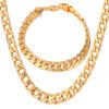 группа украшения устанавливает мужской моды украшения продажи модных часов реального позолоченные 8 мм цепи браслет ожерелье набор оптом