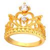 U7 люкс Crown Кольца для женщин Модные 18K Gold Plated / Платина кубического циркония обручальные / Обручальные кольца Кольца Promise кольца