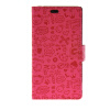 MOONCASE Cute Little Witch Leather Side Flip Wallet Card Holder Stand Pouch ЧЕХОЛДЛЯ Sony Xperia M4 Aqua Hot pink