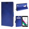 MOONCASE LG G4 Beat G4S ЧЕХОЛ ДЛЯ Flip Leather Wallet Card Holder Bracket Back Pouch Blue 03 mooncase litchi skin золото chrome hard back чехол для cover lg g4 золото