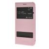 MOONCASE тонкий кожаный флип сторона Кронштейн Окно чехол для Samsung Galaxy J7 розовый
