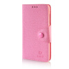 MOONCASE Cross pattern Leather Side Flip Wallet Card Slot Pouch Stand Shell Back ЧЕХОЛДЛЯ Microsoft Lumia 535 Pink mooncase classic cross pattern leather side flip wallet card pouch stand soft shell чехол для motorola moto g hot pink