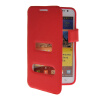 MOONCASE View Window Leather Side Flip Pouch Hard board Shell Back чехол для Samsung Galaxy Note I9220 Red mooncase view window leather side flip pouch hard board shell back чехол для samsung galaxy note 2 n7100 pink