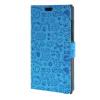MOONCASE Lovely pattern Leather Card Wallet Slot Bracket Back чехол для BlackBerry Leap Blue blackberry leap