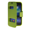 MOONCASE View Window Leather Side Flip Pouch Stand Shell Back ЧЕХОЛДЛЯ Samsung Galaxy Ace 3 S7270 / S7272 Green mooncase soft silicone gel side flip pouch hard shell back чехолдля samsung galaxy s6 black