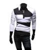 zogaa мужской рубашки поло контраст цвета моды слим кореи