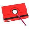 Красный 360� вращающегося магнитного PU кожа стенд дело Смарт-Чехлы для iPad мини чехлы для ipad 2 iguy