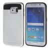 MOONCASE ЧЕХОЛДЛЯ Samsung Galaxy S6 Edge Soft Silicone Gel TPU Skin With Card Holder Protective White