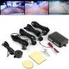 4 Датчики парковки автомобилей резервного обратный радар зеркало заднего вида цветной ЖК дисплей датчики