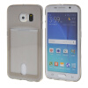MOONCASE чехол для Samsung Galaxy S6 Edge Flexible Soft Gel TPU Silicone Skin Slim Durable With Card Slot Cover Grey mooncase litchi skin золото chrome hard back чехол для cover samsung galaxy s6 edge красный