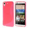 MOONCASE S - линия Мягкий силиконовый гель ТПУ защитный чехол гибкой оболочки Защитный чехол для HTC Desire 626 Ярко-розовый