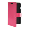 MOONCASE Slim Leather Side Flip Wallet Card Slot Pouch Stand Shell Back ЧЕХОЛ ДЛЯ LG F70 Hot pink universal 3 in 1 0 67x wide macro lens 180 degrees fish eye lens for cellphone black