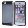 MOONCASE ЧЕХОЛДЛЯ iPhone 6 / 6S (4.7) Soft Silicone Gel TPU Skin With Card Holder Protective Grey crystal 0 45mm slim tpu gel case for iphone 6s 6 4 7 inch grey