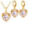 У7 кубического циркония ювелирных изделий-любовь сердце ожерелье серьги комплекты женщин платины/18k позолоченный комплект ювелирных изделий