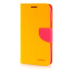 MOONCASE Leather Side Flip Wallet Card Slot Pouch Stand ЧЕХОЛДЛЯ Samsung Galaxy Grand 3 / Grand Max G7200 Yellow luxury stand flip