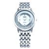 Женщины одеваются кварцевые часы Мода горный хрусталь Золотой Серебро Стальной браслет Часы девушку бриллиантовый браслет Часы G & D201507