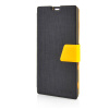 MOONCASE Leather Side Flip Pouch Stand Ultra Slim Shell Back ЧЕХОЛ ДЛЯ Sony Xperia T3 Black sony xperia t3