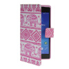 MOONCASE Pattern Style Leather Side Flip Wallet Card Slot Pouch Stand Shell Back ЧЕХОЛДЛЯ Sony Xperia Z2 luxury stand flip