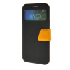 MOONCASE View window Leather Wallet Flip Stand Pouch чехол для Samsung Galaxy E7 Black roar korea noble leather stand view window case for iphone 7 4 7 inch orange