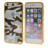 MOONCASE Камуфляж Стиль Мягкие гибкие силиконовый гель ТПУ Дело Чехол кожи для Apple IPhone 6 Plus (5,5 дюйма) Браун