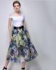 Lovaru ™ 2015 летом новый большой моды темперамент печати органза юбки пачки юбки