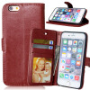 MOONCASE чехол для Apple, iPhone 4/4S/ 5/5S 6/6s /6 Plus/ 6s Plus Фолио Флип Слот кожаный бумажник карты и складная подставка Feature крышки мешка чехол накладка для iphone 5 5s 6 6s 6plus 6s plus змеиный дизайн