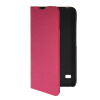 MOONCASE Slim Leather Side Flip Wallet Card Slot Pouch with Kickstand Shell Back чехол для Huawei Ascend Y550 Hot pink wkae double side embossing rose flower synthetic leather wallet case soft silicone back cover with flip kickstand and lanyard for huawei nova