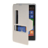 MOONCASE View Window Leather Side Flip Pouch Hard board Shell Back чехол для Nokia Lumia 820 White