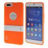 MOONCASE Huawei Дело Желе Цвет силиконовый гель ТПУ Тонкий с подставкой обложка чехол для Huawei Honor 6 Plus оранжевый цена 2017