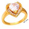 У7 обручальные кольца для женщин, Свадебные 2015 Оптовая 18k позолоченный кубического циркония ААА любви сердце кольца обручальные кольца кольца
