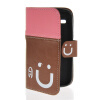 MOONCASE Leather Side Flip Wallet Card Slot Pouch Stand Shell Back ЧЕХОЛ ДЛЯ Samsung Galaxy Core I8260 I8262 Pink Brown