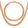 Новый модный 18K штамп колье Мужчины оптовой продажи ювелирных изделий Роуз Позолоченные цепи ожерелье браслет африканских Ювелирные наборы