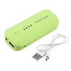 5600mAh Портативный USB Внешнее зарядное устройство Power Bank для мобильного телефона Green зарядное устройство 5600mah usb powerbank f 5600mah
