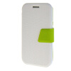MOONCASE Galaxy J1 , Leather Flip Bracket Back ЧЕХОЛ ДЛЯ Samsung Galaxy J1 White Green