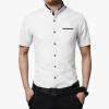 мужской рубашки дизайнер 2016 мужчин короткие рукава рубашки однородный цвет рубашки casual мужской рубашки мужчин плюс размер 5xl горячей продажи рубашки