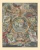 西洋古地图装饰画:世界在手上 上帝之手(20寸画芯 1700年 50cm*40cm) 斗地主高手必胜攻略