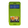MOONCASE View Window Leather Side Flip Pouch Stand Slim Shell Back ЧЕХОЛДЛЯ HTC One M9 Green