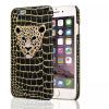 роскошь моды леопард кристалл пу + platsic дело для iPhone 6 4,7 личность телефон покрытия корпуса top lcd iphone 5c