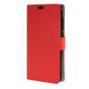 MOONCASE чехол for ZTE Blade S6 Plus S6+ Кожаный бумажник флип Чехол карты с Kickstand Дело Чехол красный