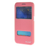 MOONCASE Samsung Galaxy S6 чехол для View Slim Leather Flip Pouch Bracket Back Cover Pink ultra slim clear phone cases for samsung galaxy s6