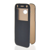 MOONCASE Ultra Thin Leather Side Flip Pouch Hard board Shell Back ЧЕХОЛ ДЛЯ HTC One 2 Mini( M8 Mini ) Sapphire