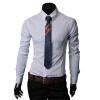 CT&HF Мужчины Мода Досуг рубашка Корея элегантный темперамент с длинными рукавами рубашки Личность Красивый лацканы Сельма хлопок рубашка рубашка figl рубашки приталенные