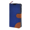 MOONCASE Alcatel One Touch POP C5 , Leather Flip Card Holder Pouch Stand Back ЧЕХОЛ ДЛЯ Alcatel One Touch POP C5 Dark blue small size bake shop pop advertising tag label clips stand food metal sign holder